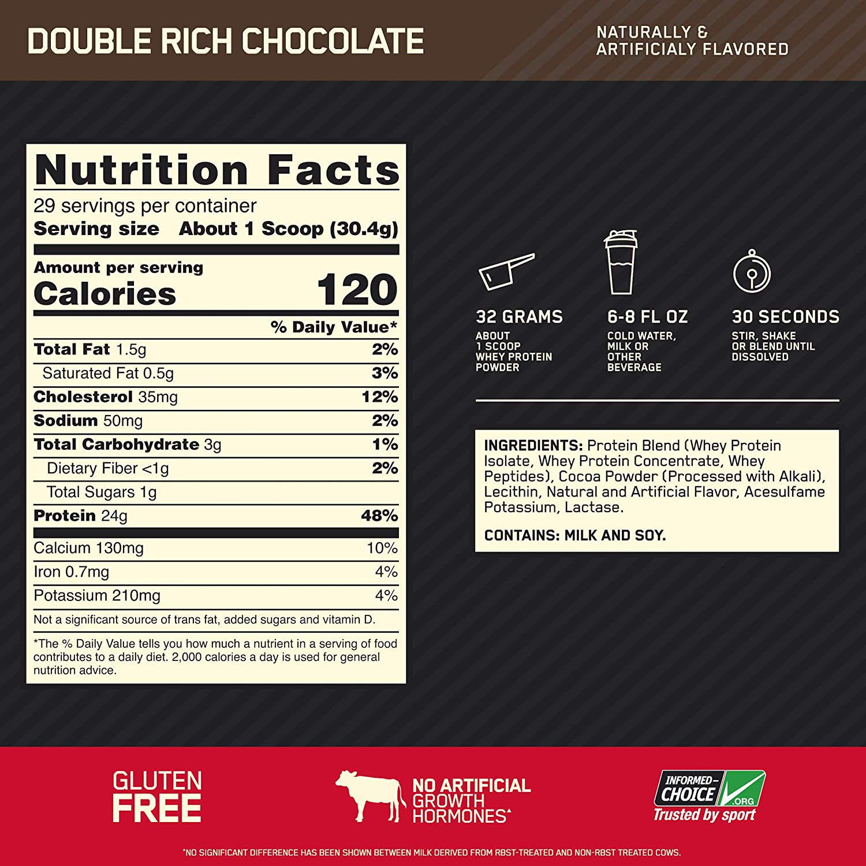 Состав 100% Whey Gold Standard Optimum Nutrition
