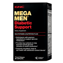 GNC Mega Men Diabetic Support (90 таб.)