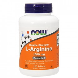 Now Foods L-Arginine, Double Strength 1000 mg (120 таб.)