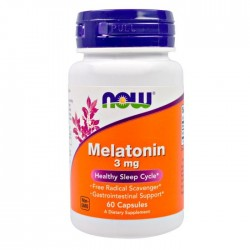 Now Foods, Melatonin 3 мг (60 капс.)