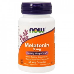 Now Foods, Melatonin 5 мг (60 капс.)