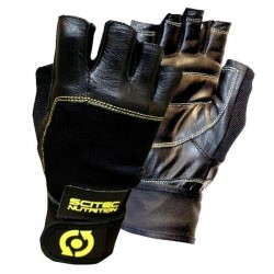 Scitec Nutrition Gloves Yellow Leather Style