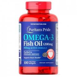 Puritan's Pride Omega-3 Fish Oil 1200 мг (100 капс.)