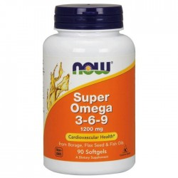 Now Foods Super Omega 3-6-9 1200 мг (90 капс.)