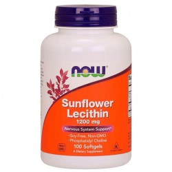 Now Foods Sunflower Lecithin 1200 мг (100 капс.)
