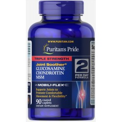 Puritan's Pride Triple Strength Glucosamine Chondroitin MSM (90 капс.)