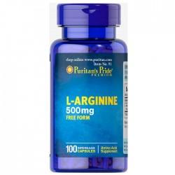 L-Arginine Puritan's Pride 500 мг (100 капс.)