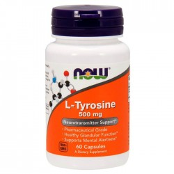 Now Foods, L-Tyrosine, 500 мг, 60 капсул