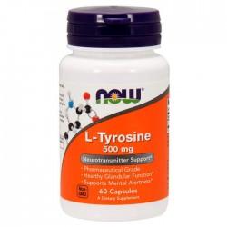Now Foods, L-Tyrosine, 500 мг, 60 капсул