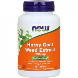 Horny Goat Weed Extract, Now Food's, 750 мг, 90 таблеток