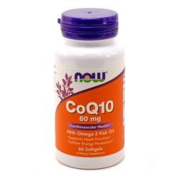 Now Foods, Коэнзим CoQ10, 60 мг, 60 капсул