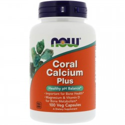 Coral Calcium Plus, Now Food's, 1000 мг, 100 капсул