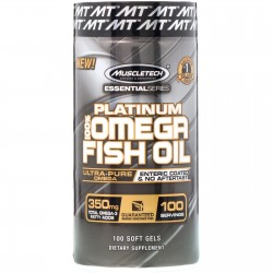 MuscleTech, Platinum 100% Omega Fish Oil (100 капсул)
