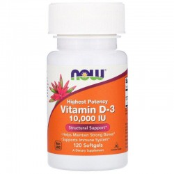 Now Foods Vitamin D-3 10.000 IU (120 капсул)