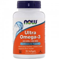 Now Ultra Omega 3-D (90 капсул)