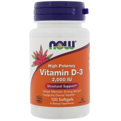 Now Food's Vitamin D-3 2000 IU (120 капсул)