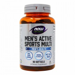 Now Foods, Men's Active Sports Multi 90 мягких желатиновых капсул