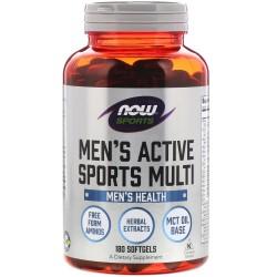Now Foods, Men's Active Sports Multi 180 мягких желатиновых капсул
