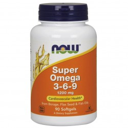 Now Foods, Omega 3-6-9 (100 капсул)