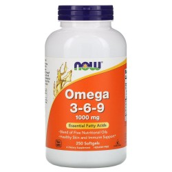 Now Foods, Omega 3-6-9 (180 капсул)