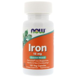 Now Foods, Iron 18 мг (120 вег. капсул)