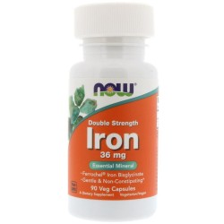 Now Foods, Iron 36 мг (90 вег. капсул)