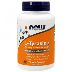 Now Foods, L-tyrosine 750 мг (90 вег. капсул)