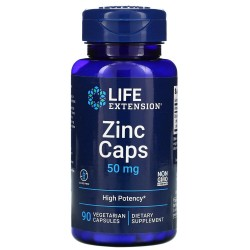 Life Extension, Zinc Caps, Цинк 50 мг (90 вег. капсул)