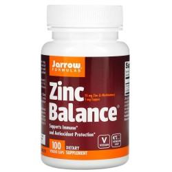 Jarrow Formulas, Zinc Balance, Цинк 15 мг (100 вег. капс)