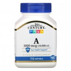 21st Century, Vitamin A 10,000 МЕ (110 таблеток)