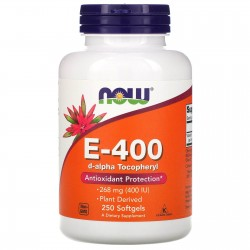 Now Foods, Vitamin E-400 (250 капсул)