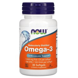 Now Foods, Omega-3 (30 капсул)