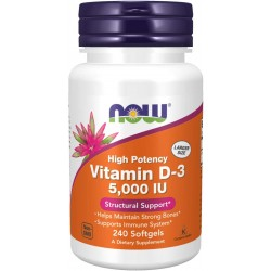 Now Foods Vitamin D-3 5000 IU (240 капс.)