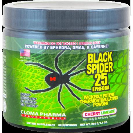 Cloma Pharma Pre-Workout Black Spider 25 (210 грамм)