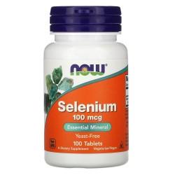 Now Foods, Selenium 100 мкг (100 таб.)
