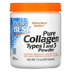 Doctor's Best, Pure Collagen 1&3 types (200 гр.)