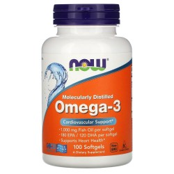 Now Foods Omega-3 1000 мг (100 капс.)