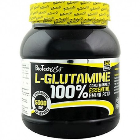 BiotechUSA 100% L-Glutamine (240 грамм)
