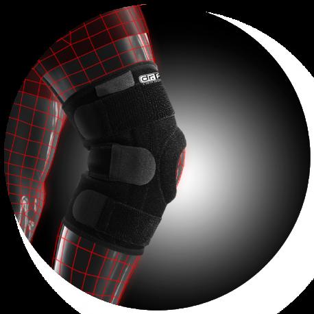 Стабилизирующий бандаж Dr.Frei на коленный сустав с 4 спиральными ребрами жесткости